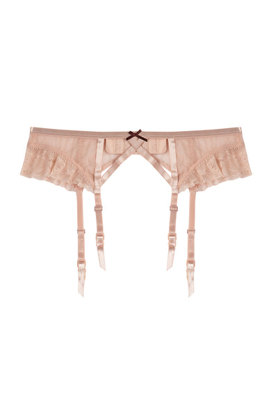 Felicity Antique Pink Lace Garter Belt