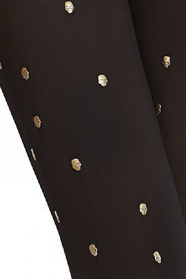 *Petra Skull Button Fashion Tights