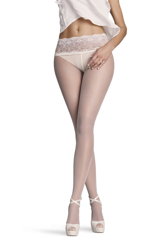 Monika Lace-Waist 10 Den Tights by Penti