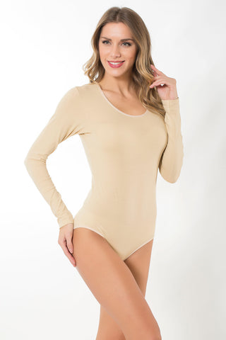 Cotton Long Sleeved Leotard