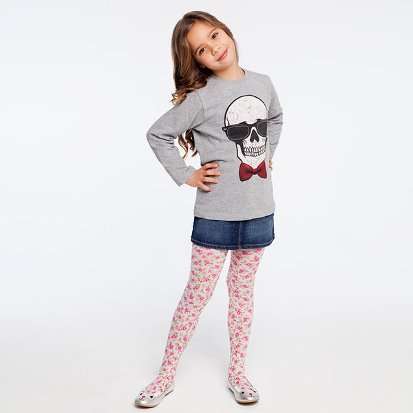 Floral Kids Tights