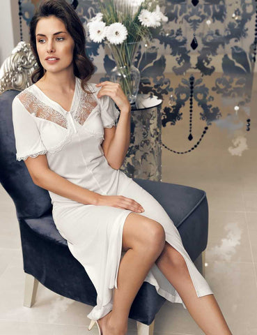 Detailed White Nightgown