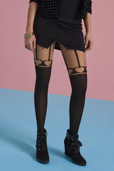 30 Den Fashion Suspender Tights