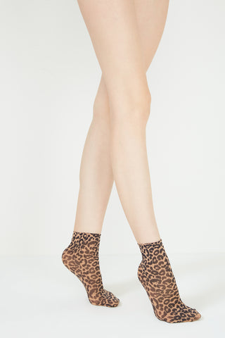 Leo Nylon Ankle High Socks