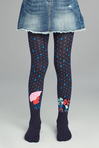 Chance of Rain Pattern Tights