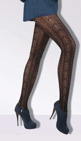 Amatista Patterned Lace Tights by Day Mod