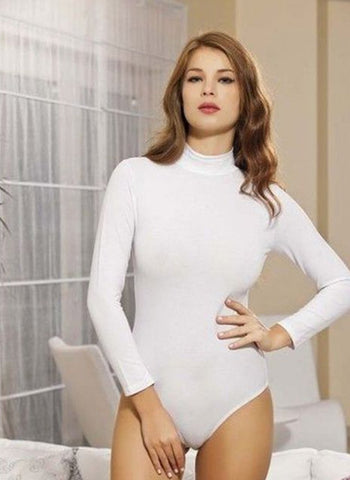 Turtleneck Leotard Long Sleeve Leotard