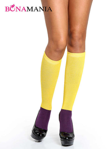 canadian yellow purple socks