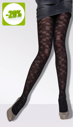 Chess Board Patterned Tights