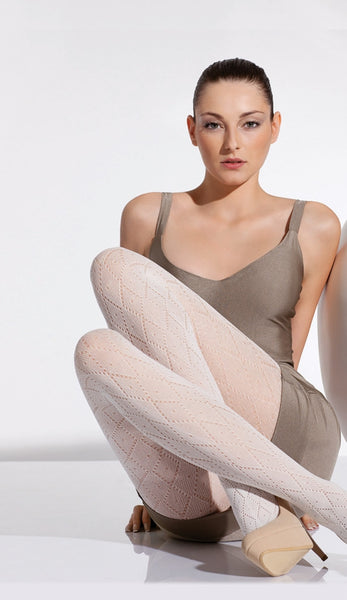 Delhi- Diamond Patterned Lace Tights by Day mod