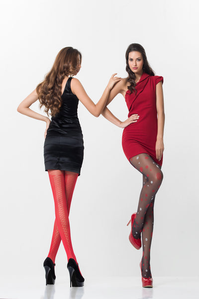 Globe Dot Patterned Tights by Day Mod