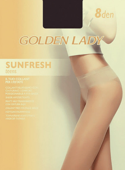 Golden Lady 8 Den Sheer Bikini Panty Tights