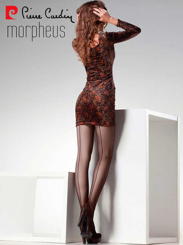 Back Seamed Sheer & Glossy Tights by Pierre Cardin
