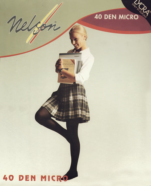 Nelson's Back to School 40 Den Opaque Tights by Tightso 2 Pairs