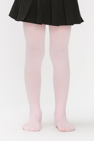 Pink Opaque Tights for Children