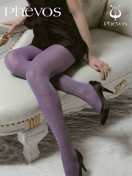 Purple Textured Tights