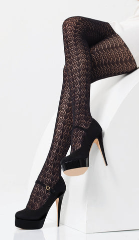 200 Denier Lace Tights by Day Mod