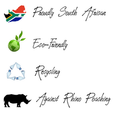 Stofpad Proudly South African, Eco-friendly, Recycling, Against rhino poaching