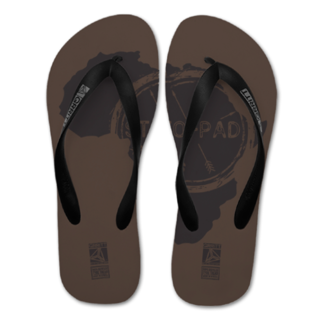 Stofpad Recycled Flip Flops (Africa) Brown
