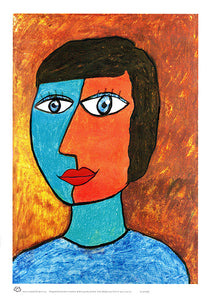 Stylised portrait of a woman by Australian artist Sally Pryor and published by Cloud Publishing