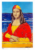 Mona Lisa surf life saver A4 sized unframed wall art published by Cloud Publishing