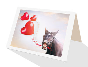 party horse with red heart balloons  from Cloud Publishing