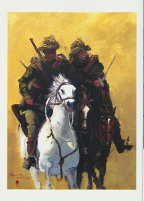 Australian Light Horsemen greeting card by artist Peter Hill and published by Cloud Publishing
