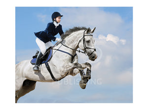 Dressage horse greeting card published by Cloud Publishing