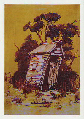 Greeting card of an Outhouse