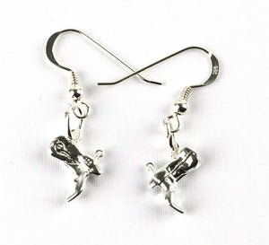 Western riding boots sterling silver drop earring jewellery