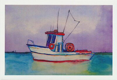 a cute little fishing boat by artist Jon Haworth and Cloud Publishing