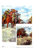 Australian Light Horsemen in battle A4 unframed print by Peter Hill and published by Peter Hill