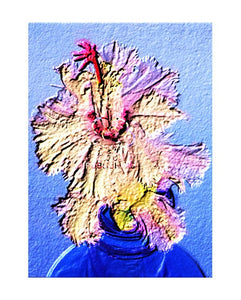 "Wall art ""Aspen"" Christmas cactus illustration unframed A3 print by Tony Brindley"