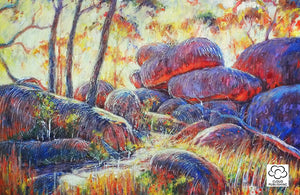 Australian landscape of Cathedral Rocks National Park colourful landscape by Zima Kokaev and published by Cloud Publishing