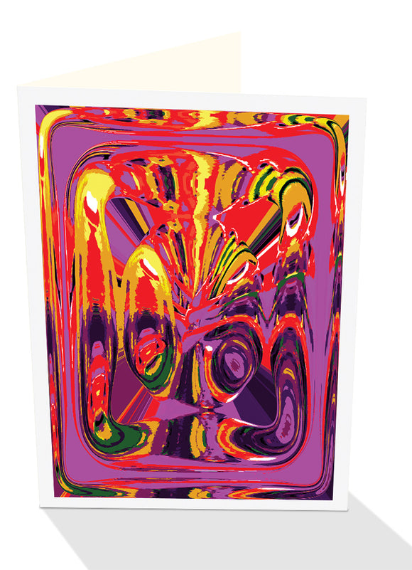 Abstract mask greeting card from Cloud Publishing