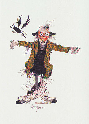 Scarecrow greeting card titled Stone the Crows by PJ Hill and published by Cloud Publishing