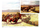 Wall Art Australian Light Horsemen battle charge A4 unframed print and card by Peter Hill