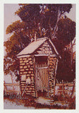 "Greeting card of an Aussie ""Brick Shithouse"" by artist PJ Hill and Cloud Publishing"