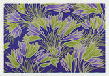 Lime green and purple crocus flower patterns by Australian artist Nancy Soultanian and published by Cloud Publishing
