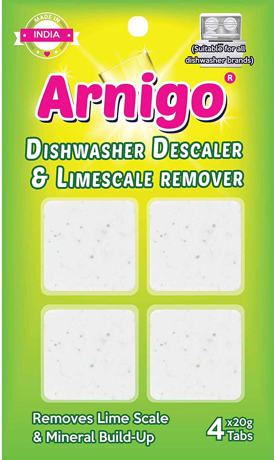 Arnigo Descaler & Cleaner Tablets | Removes Limescale & Odour Causing Residue
