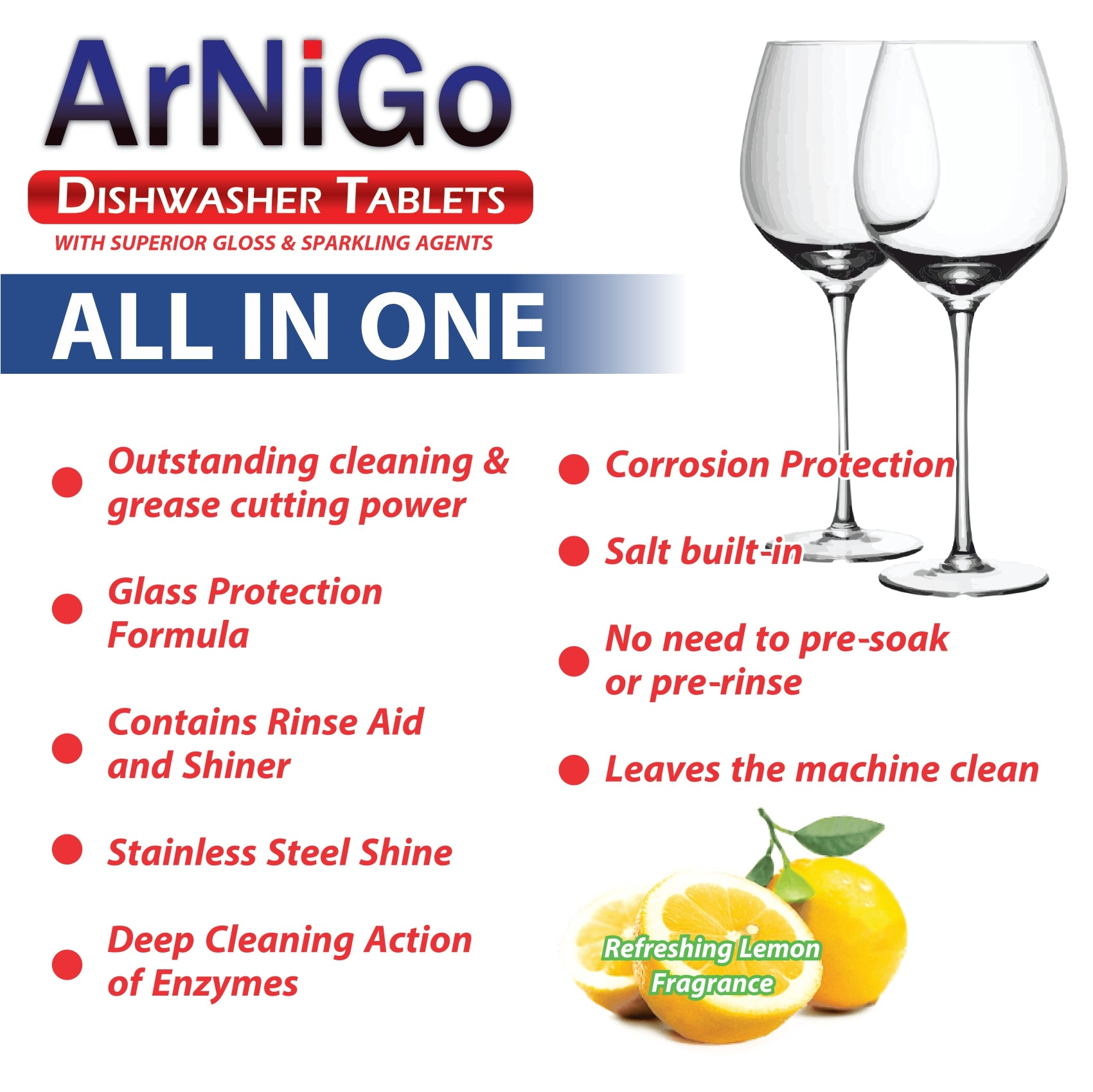 Arnigo (All in One) Dishwasher Tablets - 30 Tablets