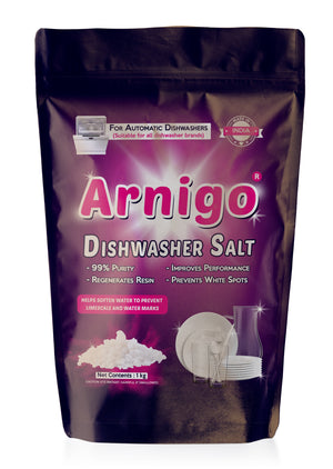 Arnigo Dishwasher Salt - 1 Kg (Pack of 12)