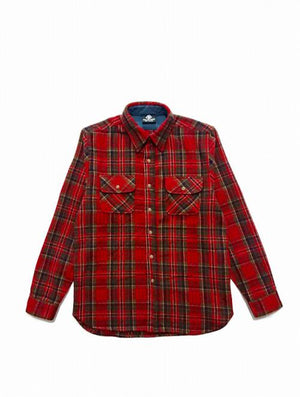CROSS FLANNEL SHIRT/RED (BRUSHED)