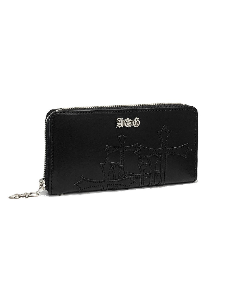 ROUND ZIPPER WALLET / CROSS