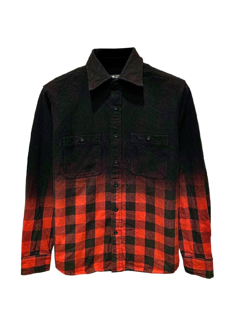 FDL LEOPARD-GRAY FLANNEL SHIRT / JAPAN DEEP BLACK