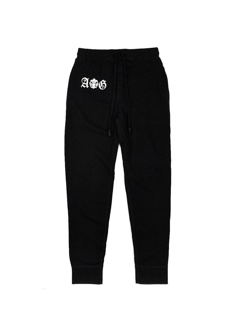 LOGO/FDL-WHITE SWEAT PANTS / JAPAN DEEP BLACK