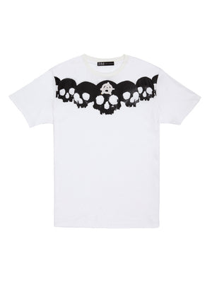 【4day's Special】ANARCHY SKULL SWAROVSKI T-SHIRT/WHITE