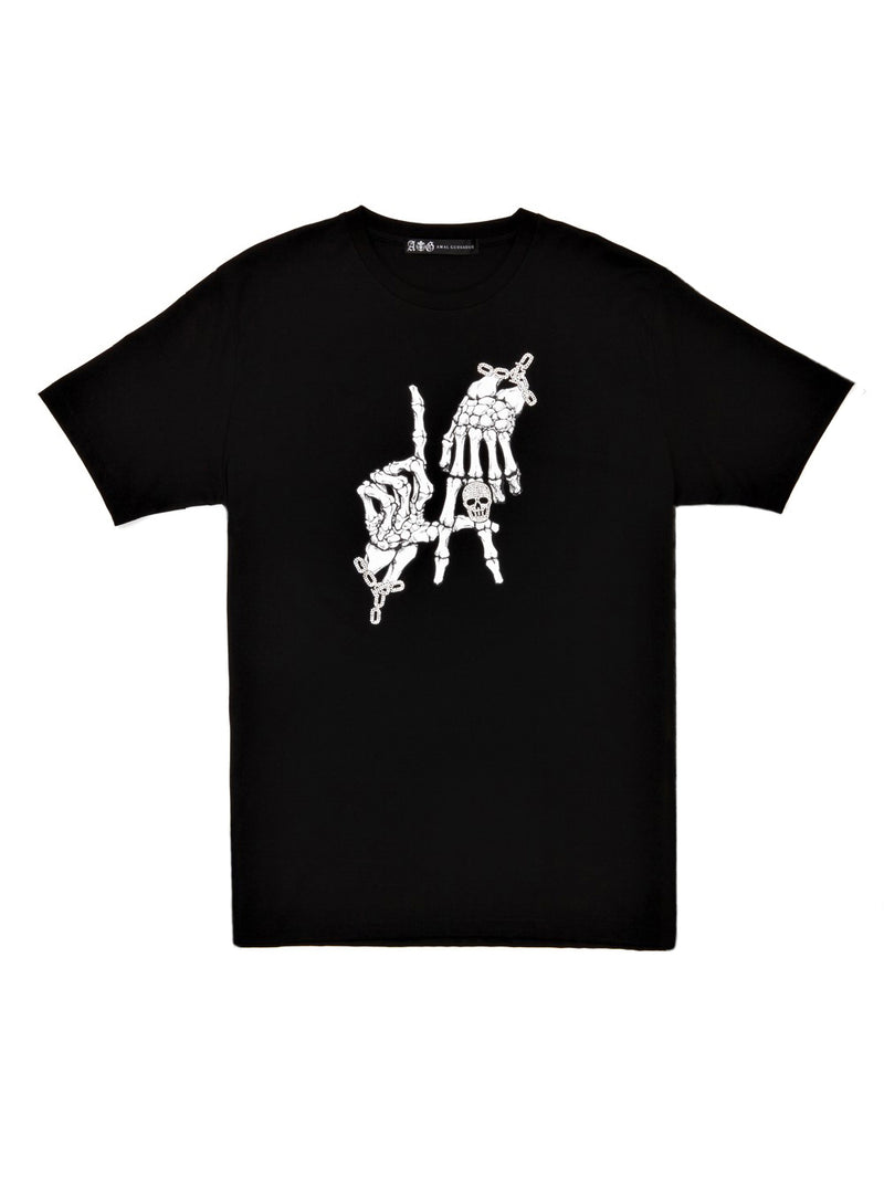 HAND SIGN SWAROVSKI T-SHIRT/BLACK