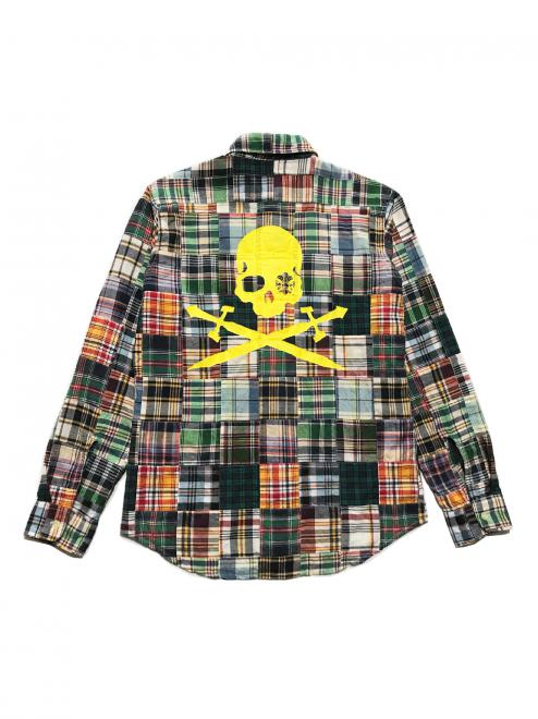 SWORD SKULL PATCHWORK SHIRT