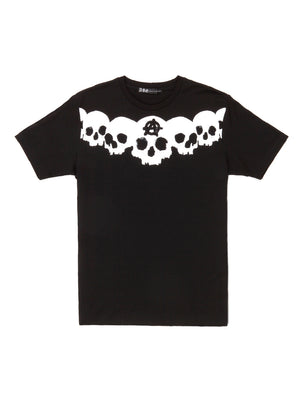 ANARCHY SKULL SWAROVSKI T-SHIRT/BLACK